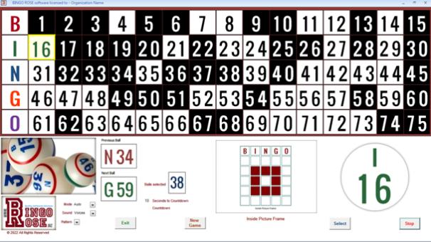 Bingo Hall Plus main screen