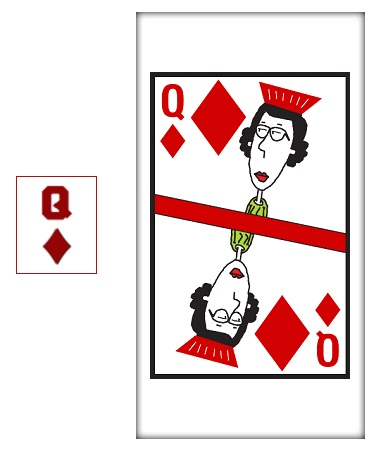 Current card - Queen of Diamonds