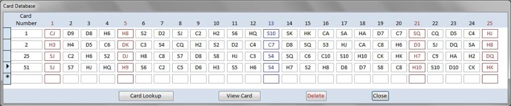 Card database