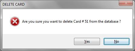 Delete card