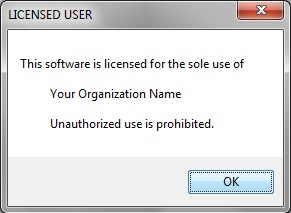 Licensed User notification
